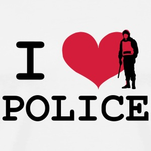 I Love Police Mugs & Drinkware - Men's Premium T-Shirt