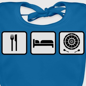 Eat Sleep Darts Shirts - Bio-slabbetje voor baby's