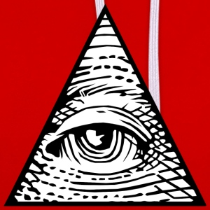 Eye of Providence T-Shirts - Contrast Colour Hoodie