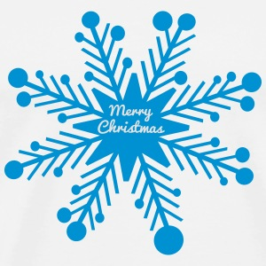 Merry Christmas snowflake Coasters (set of 4) - Men's Premium T-Shirt