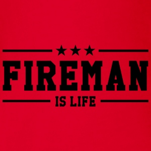 Fireman is life Shirts - Organic Short-sleeved Baby Bodysuit