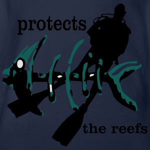 protects the reefs T-Shirts - Baby Bio-Kurzarm-Body