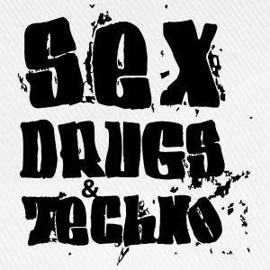 Sex Drugs and Techno Pullover & Hoodies - Baseballkappe