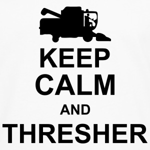 keep_calm_and_thresher_g1 T-shirts - Herre premium T-shirt med lange ærmer