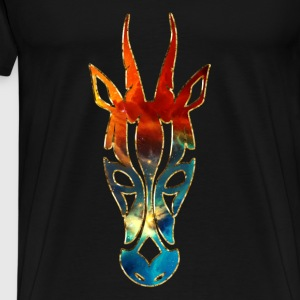 Animal antelope, Africa, Space, cosmos, galaxy,  Sweaters - Mannen Premium T-shirt