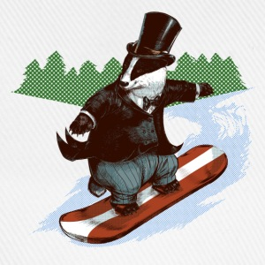 Snowboader Badger Tee shirts - Casquette classique
