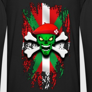 basque skull 02 Sweat-shirts - T-shirt manches longues Premium Homme