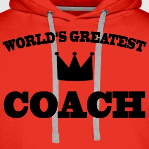 World's greatest Coach Tee shirts - Sweat-shirt à capuche Premium pour hommes