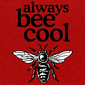 Always Bee Cool Beekeeper Quote Design (two-color) Camisetas - Gorra Snapback