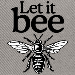 Let It Bee Beekeeper Quote Design (two-color) Tee shirts - Casquette snapback