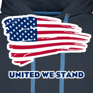 United we stand T-Shirts - Men's Premium Hoodie