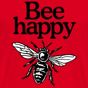 Bee Happy Beekeeper Quote Design (two-color) Tazze & Accessori - Maglietta da uomo
