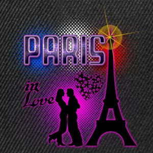 paris in love Tee shirts - Casquette snapback