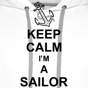keep_calm_i'm_a_sailor_g1 Skjorter - Premium hettegenser for menn