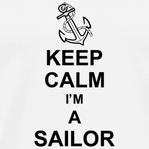 keep_calm_i'm_a_sailor_g1 Krus & tilbehør - Herre premium T-shirt