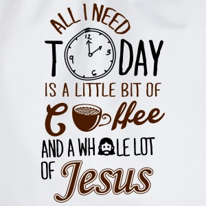 All I need: coffee and Jesus T-Shirts - Drawstring Bag