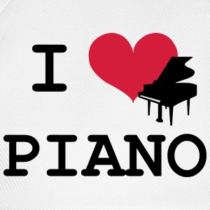 I Love Piano T-shirts - Basebollkeps