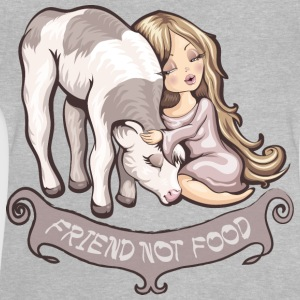 Grau meliert Friend not food Langarmshirts - Baby T-Shirt