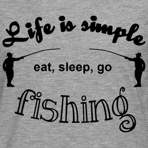 Life is simple Pullover & Hoodies - Männer Premium Langarmshirt