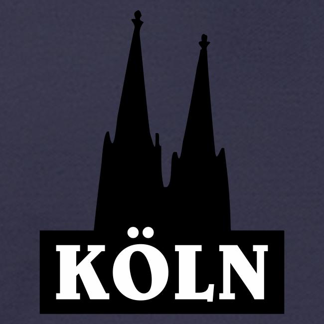 Köln Logo mit Kölner Dom (S/W)