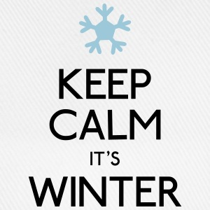 keep calm winter hålla lugn vinter T-shirts - Basebollkeps