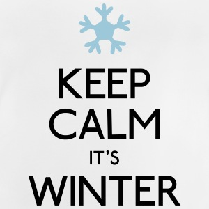 keep calm winter houden kalm winter Shirts - Baby T-shirt