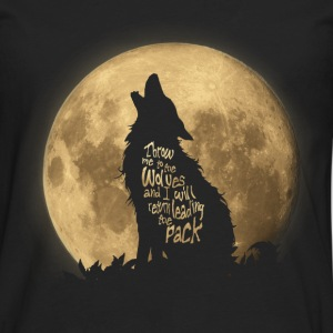Throw me to the Wolves T-shirts - Långärmad premium-T-shirt herr