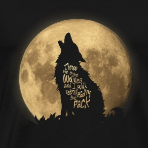 Throw me to the Wolves Long Sleeve Shirts - Men's Premium T-Shirt