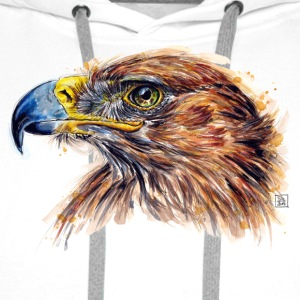 White eagle painting Bags & Backpacks - Men's Premium Hoodie