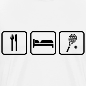 Eat Sleep Tennis Manga larga - Camiseta premium hombre