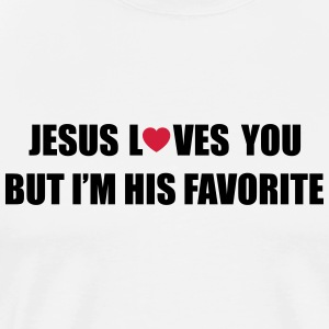 Jesus loves you but I'm his favorite Débardeurs - T-shirt Premium Homme