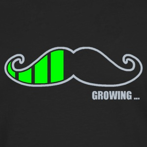 Moustache Growing Tee shirts - T-shirt manches longues Premium Homme