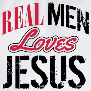 Real men loves Jesus Shirts - Drawstring Bag
