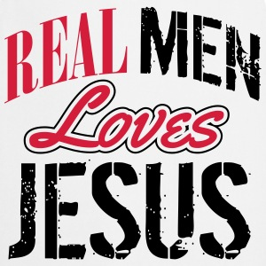 Real men loves Jesus Shirts - Cooking Apron