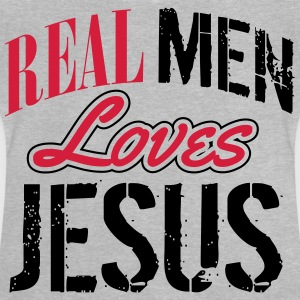 Real men loves Jesus T-shirts - Baby T-shirt