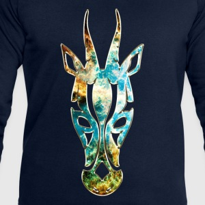 Antelope, Africa Space, cosmos, galaxy, outerspace Long Sleeve Shirts - Men's Sweatshirt by Stanley & Stella