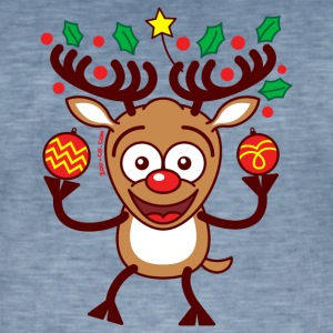 Cool Reindeer Decorating for Christmas Hoodies & Sweatshirts - Men's Vintage T-Shirt
