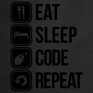 eat sleep code Camisetas - Delantal de cocina