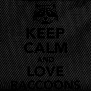 Keep calm and love raccoons T-Shirts - Kinder Rucksack