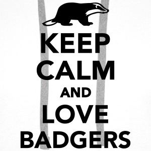 Keep calm and love badgers T-Shirts - Männer Premium Hoodie