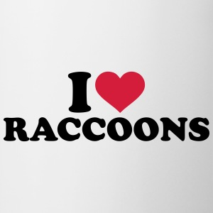 I love raccoon T-Shirts - Tasse