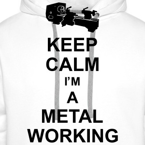keep_calm_i'm_a_metalworking_g1  Aprons - Men's Premium Hoodie
