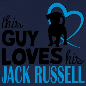 This guy loves his Jack Russell - Dog Lover Felpe - Cappello con visiera