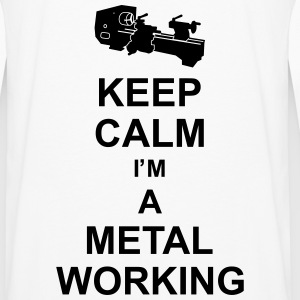 keep_calm_i'm_a_metalworking_g1 Gensere - Premium langermet T-skjorte for menn