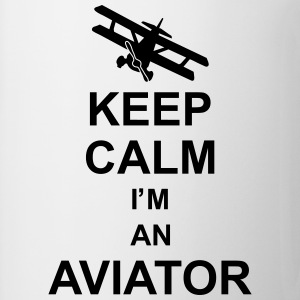 keep_calm_im_an_aviator_g1 Skjorter - Kopp