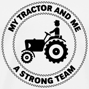 My Tractor And Me – A Strong Team Buttons - Men's Premium T-Shirt