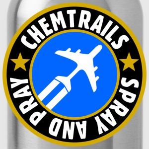chemtrails - spray and pray T-Shirts - Trinkflasche