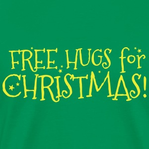 Free hugs for Christmas!  Aprons - Men's Premium T-Shirt