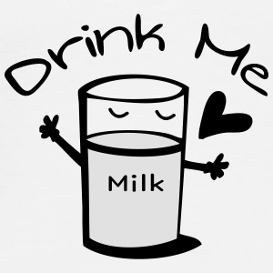 Drink milk Mug - Men's Premium T-Shirt