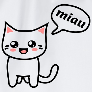 Kawaii Kitteh says miau T-Shirts - Turnbeutel
